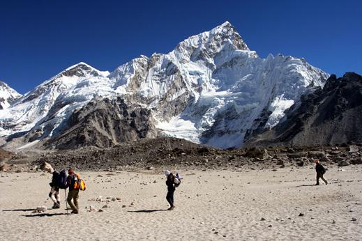 Treking Nepal - nad 5000 m, proti baznemu taboru pod Everestom.