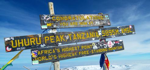 Kilimanjaro z lokalnim vodnikom
