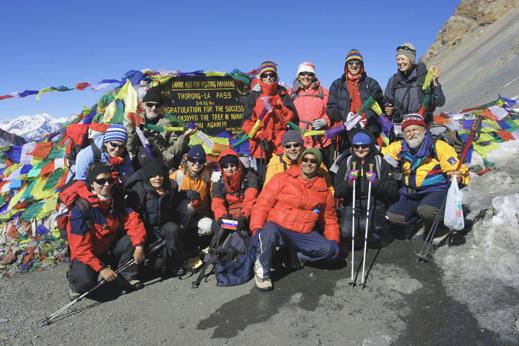 Na prelazu Thorong la, 5.416m, preko katerega bomo povezali dolini rek  Marsijangdi in Kali Gandaki.