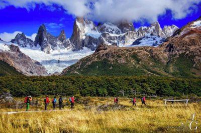 Eden izmed trekingov v parku Los Glaciares nas pripelje do...