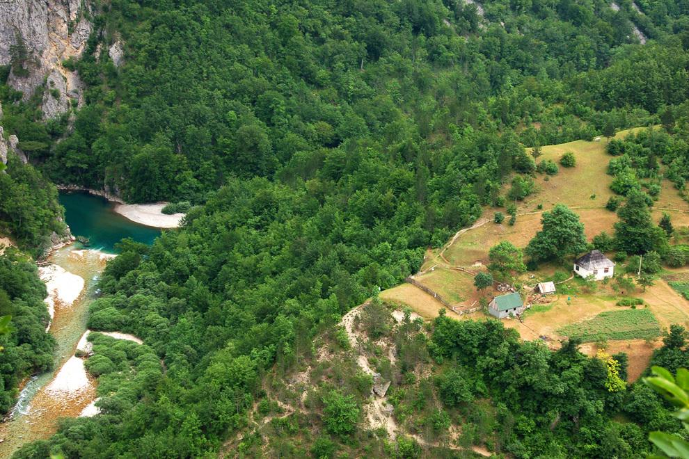 Vstop v kanjon reke Tare