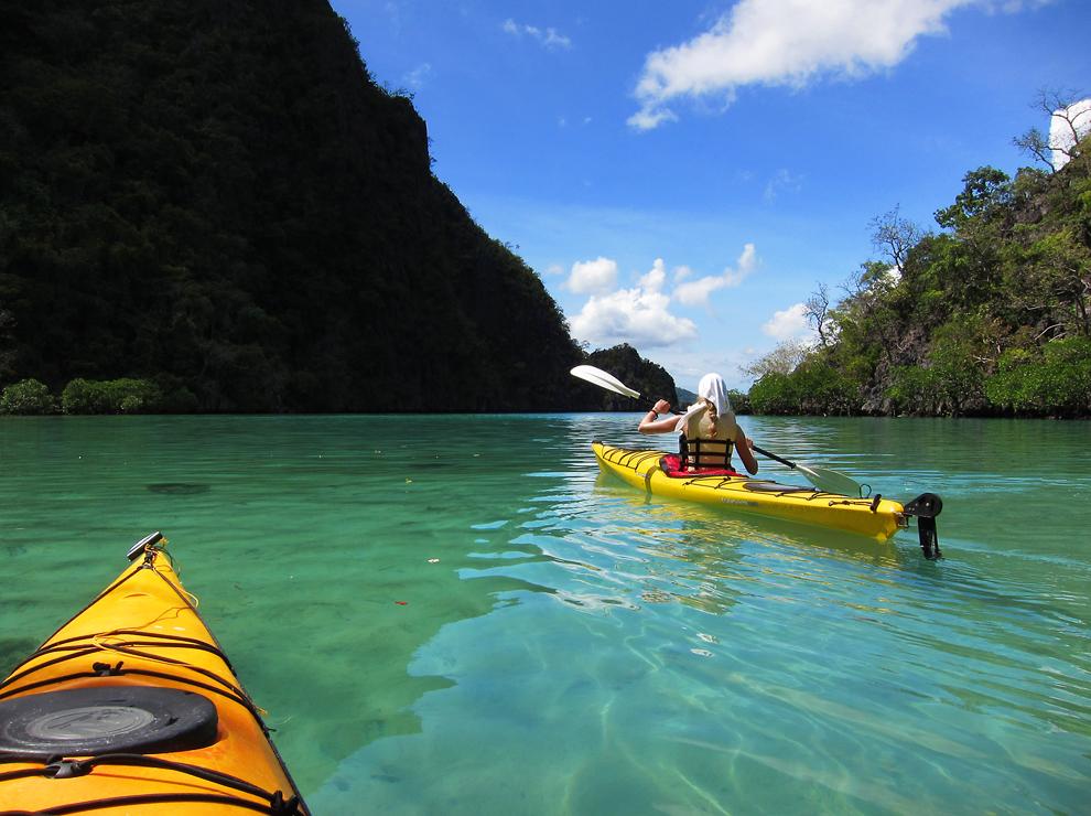 Odlična kajak ekspedicija s podpornim čolnom