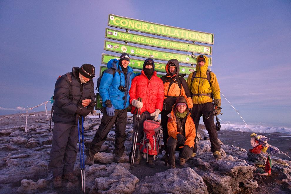 Na vrhu Kilimanjara, točka Uhuru, 5896 m