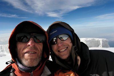 Uroš in Luka na vrhu Kilija