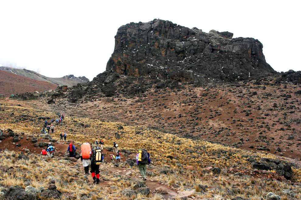 Eden ključnih delov vsake ekspedicije so tudi številni afriški nosači, ki ob veselem prepevanju in poslušanju reggie muzike, nosijo opremo do zadnjega tabora.