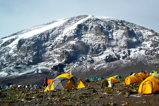Treking Kilimanjaro. Višinski Tabor.