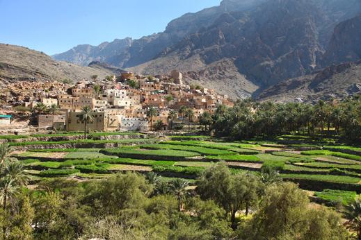 Potovanje Oman - Skrita in slikovita starodavna vas Bilad Sayt.