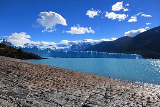 Pogled na masivni ledenik Perito Moreno