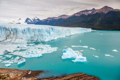 Perito Moreno je tudi vstop na veliki 500km Južni led Patagonije