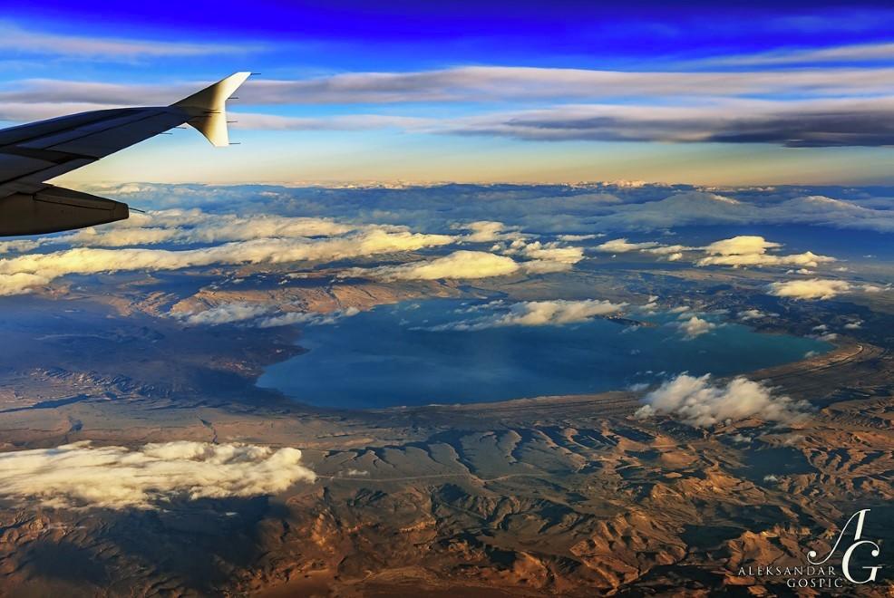 Pogled iz poti proti jugu dežele