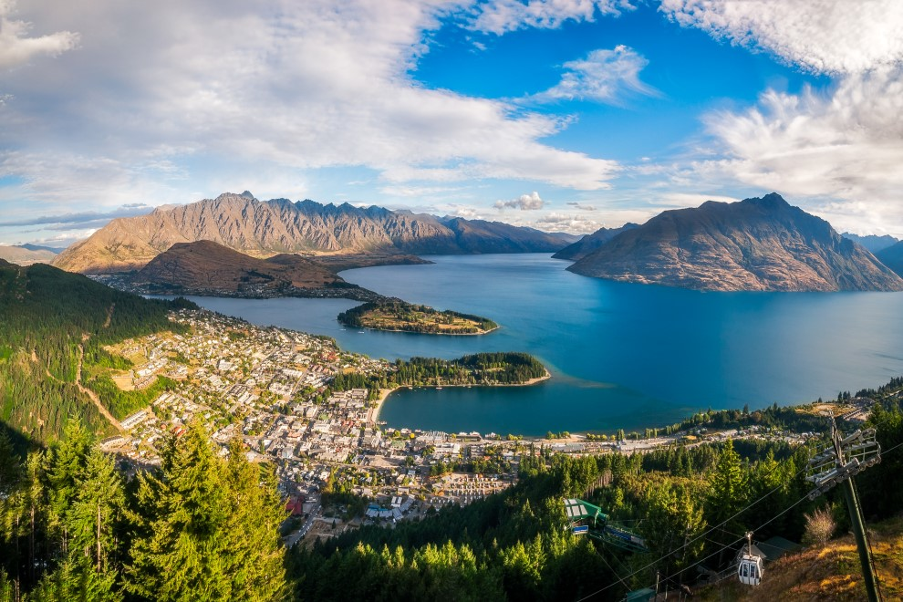 Razgled nad adrenalinsko prestolnico Queenstown