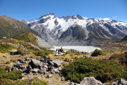 Potovanje Nova Zelandija - Južne Alpe, na poti proti Mt. Cooku.