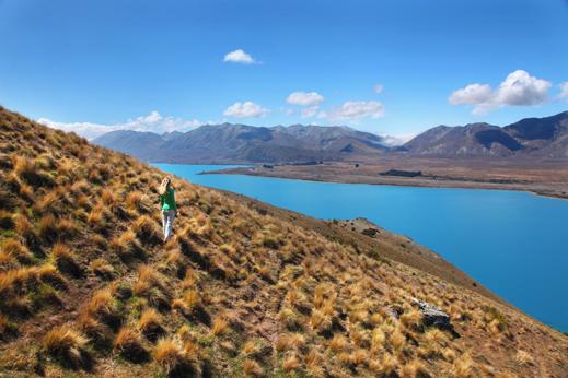 Razgled na turkizno jezero Tekapo.