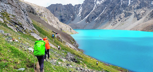Kirgizija – treking