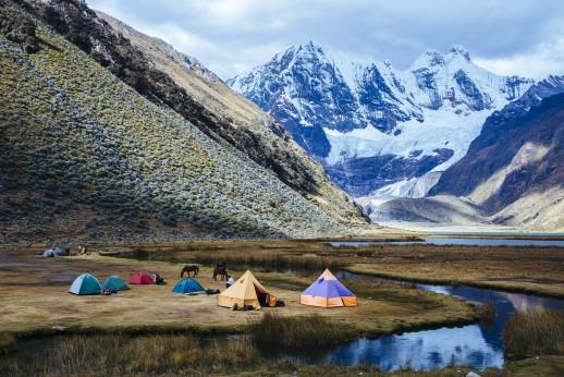 Laguna Jahuacocha, Huayhuash Trek/ Cordillera Blanca/ Huaraz/ Ancash/ Andes / Peru/ South America
