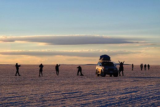 Največja južnoameriška slana puščava Salar de Uyuni