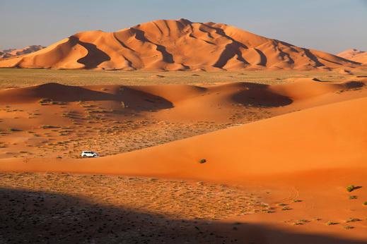 Treking v Omanu.