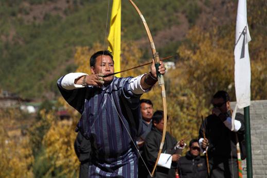 lokostrelski turnir, potovanje butan
