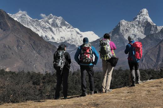pogled na Ama Dablam, treking Nepal
