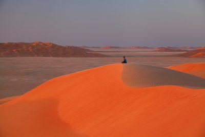 Sončni zahod v puščavi
