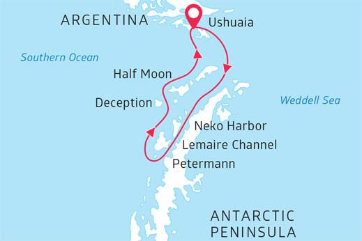 zemljevid Antarktika